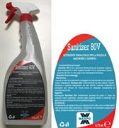 DETERGENTE IDROALCOLICO SANITIZER80V MASCHERINE E SUPERF. 750ML